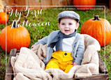 My First Halloween - White Overlay 7x5 Flat Card