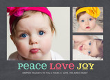Peace Love Joy on Chalkboard 7x5 Postcard