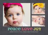 Peace Love Joy on Chalkboard 7x5 Postcard