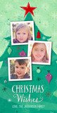 3 Photos on Christmas Tree 4x8 Flat Card