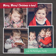 4 Photos on Chalkboard Background 4.75x4.75 Flat