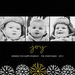 3 Photos - Joy on Black 4.75x4.75 Flat