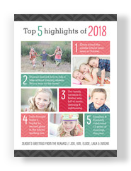 Top 5 Highlights 5x7 Flat Card