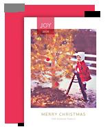 Joy - Red Ribbon Overlay 5x7 Flat Card
