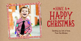 Photo with Candy Cane Stripe Border 8x4 Flat Card