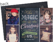 Magic of Christmas Chalkboard Art 7x5 Flat Card