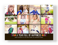 12 Photo - Year in Review 7x5 Flat Card