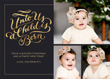 A Child is Born - Gold Foil on Black 7x5 Flat Card