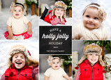 Holly Jolly on Chalkboard 7x5 Flat Card