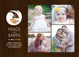 Dove and Photos on Wood Grain 7x5 Flat Card