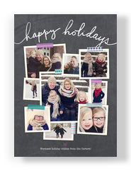 Photos with Washi Tape on Chalkboard 5x7 Flat Card