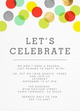 Colorful Dots Invitation 5x7 Flat Card
