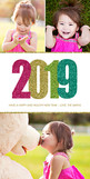 Glittery 2017 4x8 Flat Card