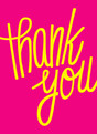 Casual Bright Thank You 3.75x5.25 Folded Card