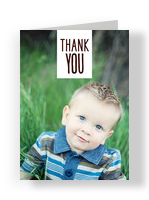Simple Photo Thank You 3.75x5.25 Folded Card