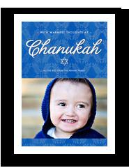 Blue Chanukah 5x7 Flat Card