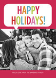 Happy Holidays Word Balloon 5x7 Flat Card
