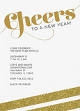 Sparkly Gold Cheers 5x7 Flat Card