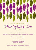 Purple & green streamers - New Year's Invitation 5x7 Flat Card
