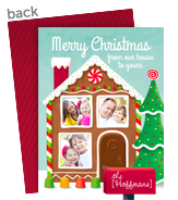 Gingerbread House Photo Frame 5x7 Flat Card
