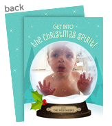 Cute Snowglobe 5x7 Flat Card