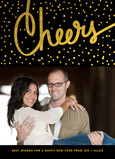 Gold Cheers Confetti 5x7 Flat Card