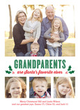 Grandparents are Santas Favorite Elves 5x7 Flat Card