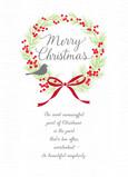 Pine Wreath Meaningful Christmas 5x7 Folded Card