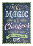 Magic of Christmas Chalkboard Art 5x7 Folded Card