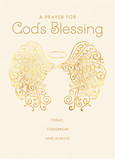 God's Blessing - Angel Wings 5x7 Folded Card