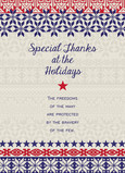 Military Holiday Gratitude 5x7 Folded Card