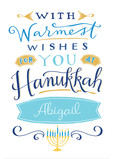 Hanukkah Warm Wishes 5x7 Folded Card