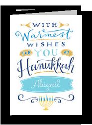 Hanukkah Warm Wishes 5x7 Folded Card