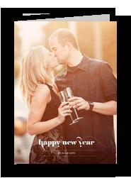 Happy New Year Photo Overlay 5x7 Folded Card