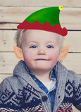 Elf Hat & Ears Photo Overlay 5x7 Folded Card