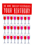 The wine industry celebrates your birthday 5x7 Folded Card
