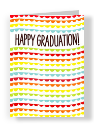 Waves of Color Happy Graduation 5x7 Folded Card