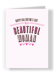 Beautiful Woman Smart Man 5x7 Folded Card