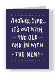 You Can Stay New Year 5x7 Folded Card