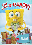 Spongebob with Gifts 5x7 Folded Card