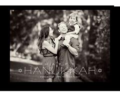 happy hanukkah photo overlay 7x5 Flat Card