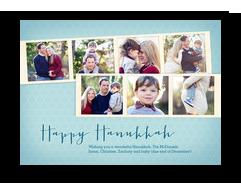 Hanukkah Photo Strips 7x5 Flat Card
