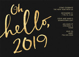 Golden Hello 2017 7x5 Flat Card
