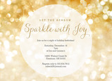 Sparkle with Joy Invitation 7x5 Flat Card