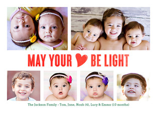 May your heart be light 7x5 Flat Card
