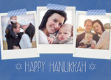 Hanukkah Instant-photos with Washi Tape 7x5 Folded Card