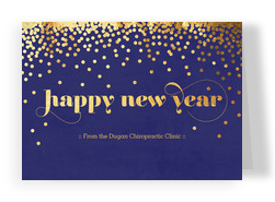 Gold New Year Confetti 7x5 Folded Card