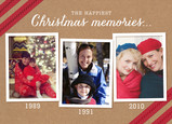 Christmas Photo Timeline 7x5 Folded Card