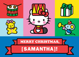 Hello Kitty Christmas Icons 7x5 Folded Card