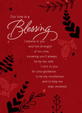 Our Love is a Blessing 5x7 Folded Card